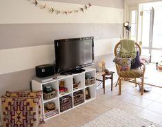 makeshift entertainment center for $40 #diy #decor #decorating #eclectic