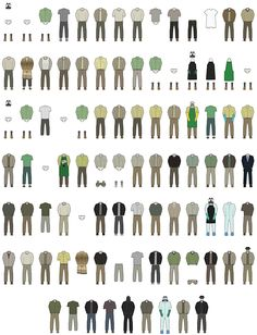 The Wardrobe of Walter White, Illustrations of Every Outfit He Wore in Seasons 1-5 of 'Breaking Bad'