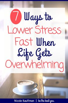 When life gets busy or overwhelming, it's easy to get stressed out. But lowering your stress doesn't have to be a mystery. Find 7 tips to lower stress here! How To Lower Stress, Coping With Stress, Work Stress, How To Relieve Stress, Reduce Stress, Types Of Anxiety, Anxiety Tips, Social Anxiety, Stress And Anxiety