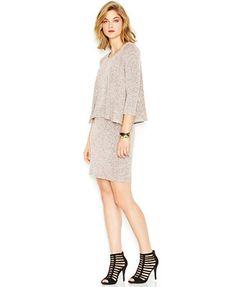 Bar III Three-Quarter-Sleeve Layered Dress, love this dress!
