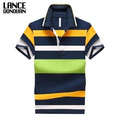 1dcecd6a4bf0 92% Cotton camisa Men Polo Shirt 2015 Casual Striped Slim short sleeves  ASIAN SIZE M