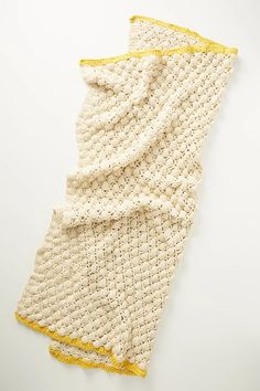 Bauble Throw Blanket in Ecru and Mustard