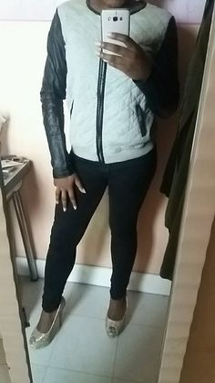 Gilet gros simili cuir sur les manches Pimkie Style, Mantle, Sleeves, Womens Fashion, Swag, Outfits