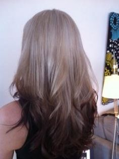 Reverse Ombre - blonde to dark brown