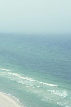 When the Ocean Dissolves Into the Sky - Panana City Beach, Florida Water Waves, Ocean Waves, Big Waves, Sea And Ocean, Ocean Beach, City Beach, I Love The Beach, All Nature, Am Meer