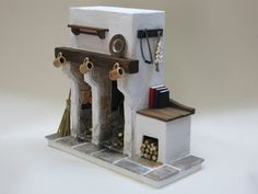 Fireplace for Doll House Medieval / door FirecraftMiniatures