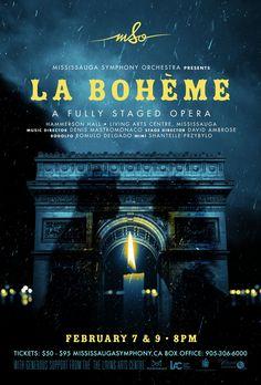 La bohème opera poster by www.keyart.ca #graphicdesign #design #opera #poster #keyart
