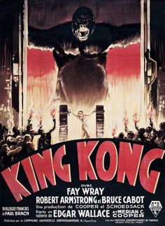Horror Movie Posters, Old Movie Posters, Classic Movie Posters, Classic Horror Movies, Movie Poster Art, Vintage Posters, King Kong 1933, Skull Island, Old Movies