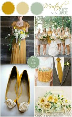 mustard and sage fall wedding