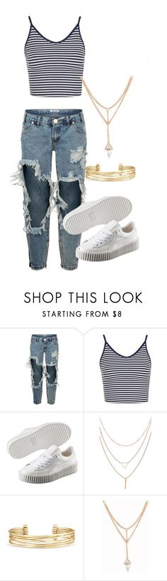 """Untitled #49"" by trillqueen34 ❤ liked on Polyvore featuring OneTeaspoon, Topshop, Puma and Stella & Dot"