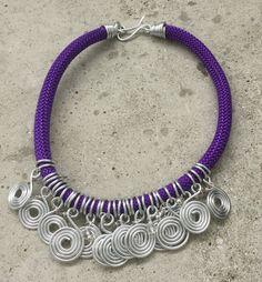 Purple infinitive necklace by FlorindaJewellery on Etsy