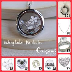 Custom locket for the bride!