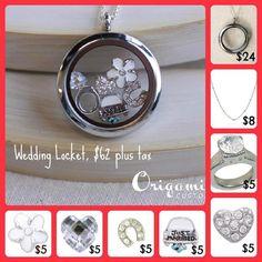 Custom locket for the bride!