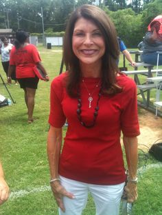 Pam Tebow representing for TimTebow Foundation (July 28, 2012) -- my future motherinlaw is so pretty! (: