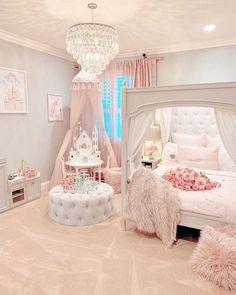 Lovely Teen Girl Bedroom Ideas - Page 42 of 43 Pink Bedrooms, Teen Girl Bedrooms, Kids Bedroom, Bedroom Decor, Bedroom Ideas, Little Girls Bedroom Sets, Little Girl Rooms, Girl Bedroom Designs, Dream Rooms