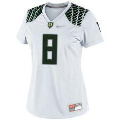 31eece0e6ad Nike Oregon Ducks Ladies #8 Game Football Jersey - White College Football, Football  Jerseys