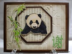 Creations by Patti: Local King Rubber Stamp Panda Card