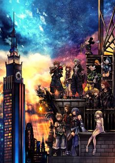 "The DLC is titled ""Kingdom Hearts III Re:Mind."" Game director Tetsuya Nomura announced at the ""Kingdom Hearts Orchestra – World of Tr. Kingdom Hearts Wallpaper, Heart Wallpaper, Mobile Wallpaper, Iphone Wallpaper, Big Hero 6, Video Game Art, Video Games, Pc Games, News Anime"