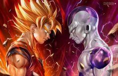 Son Goku Vs Frieza by alex-malveda - Visit now for 3D Dragon Ball Z compression shirts now on sale! #dragonball #dbz #dragonballsuper