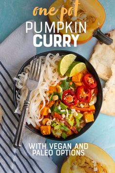 Pumpkin isn't just for sweet recipes—it is also great in this savory and spicy One Pot Pumpkin Curry. Great for dinner or meal prep! Healthy Eating Recipes, Delicious Vegan Recipes, Vegetarian Recipes, Healthy Eats, Recipe Using Pumpkin, Pumpkin Recipes, Best Dinner Recipes, Sweet Recipes, Fast Recipes