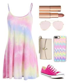 """""""Tie Dye"""" by queenshaima on Polyvore featuring Casetify, Converse, Dolce&Gabbana and Charlotte Tilbury"""