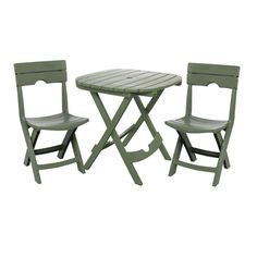 Outdoor 3 Piece Bistro Set Garden Yard Patio Folding Cafe Furniture, Sage for sale online Resin Patio Furniture, Garden Furniture, Outdoor Furniture Sets, Furniture Ideas, Furniture Design, Folding Furniture, Mirrored Furniture, Folding Chairs, Small Furniture