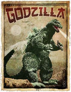 Godzilla Poster by ViaMind.deviantart.com on @deviantART