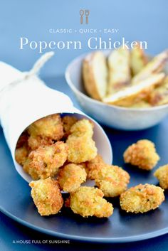 With a crunchy golden panko crumb and a hint of sweet mustard seasoning, these little chicken bites are perfectly moreish! An easy crowd-pleaser that the entire family will love! Served with home-made oven baked potato and rosemary wedges for extra deliciousness. A MUST TRY!