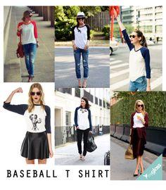 A tendência que já tinha bem cara de rua, com moletom largado, camiseta com cara de velha e jeans rasgado ganhou um toque esportivo e com isso um estilo de camiseta caiu no gosto das mulheres… A camiseta estilo baseball!
