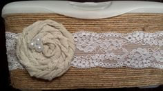 Shabby Chic Wipes Case / Rosette and Twine by EdenSongBoutique, $13.00