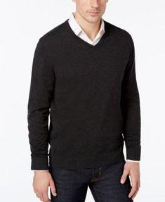 Alfani Men's V-Neck Sweater, Created for Macy's - Tan/Beige 2XL