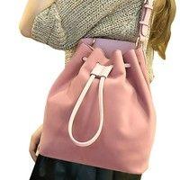 125b37f7b5 New fashion woman drawstring Bucket Bag Shoulder Bag Messenger Bag Handbag  Green Bag, New Fashion