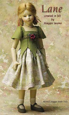 Lane 16.5 Inch Tall Felt Doll Edition Size: 70 Created in 2003