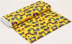 yellow tractor fabric Timeless Treasures from the USA 3