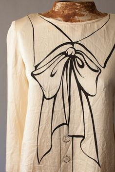 Ivory Silk MOSCHINO COUTURE Blouse Trompe l'oeil by SicklyVintage