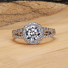 14K White Gold Diamond Engagement Wedding by JewelryImpression, $419.00