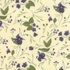 Vanilla-Floral-Lady-Slipper-Lodge-Quilt-Fabric-by-the-1-2-yd-82-11