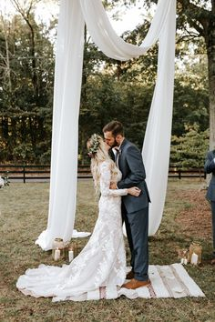 This marsala wedding features countless stunning DIY projects, romantic boho bridal style, and amazing southern rustic vibes. diy arbor Gorgeous Southern Marsala Wedding at Grace Oaks Tree Wedding, Wedding Bells, Garden Wedding, Wedding Bride, Boho Wedding Shoes, Wedding Rings, Forest Wedding, Woodland Wedding, Before Wedding