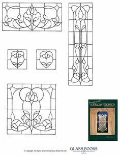Passende patronen in verschillende maten - glas in lood