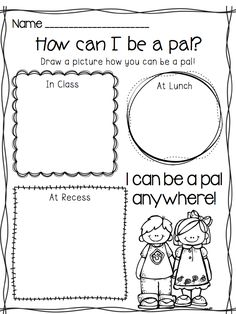 This could be incorporated into social skills, great to set first day expectations.