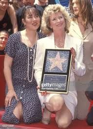 Linda Lee Caldwell and daughter Shannon Lee attend Hollywood Walk of Fame Star to Honor Bruce Lee on April 28, 1993 at 6933 Hollywood Boulevard in Hollywood, California.