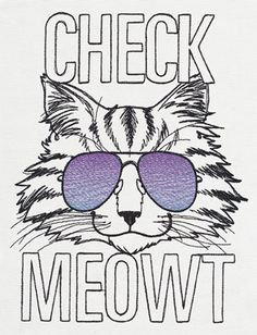 Impress your friends and get some attention with this feisty feline. Great on T-shirts, totes and more!