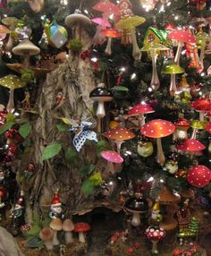 Mushrooms and gnomes and magic, oh my! Can I have this in my home all year long? :)