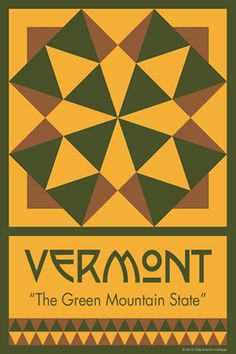 VERMONT quilt block.  Ready to sew. Single 4x6 block $4.95.