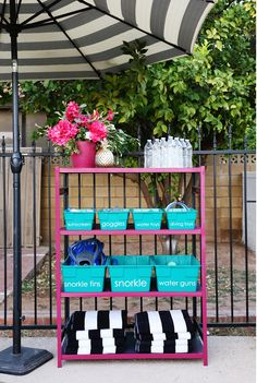 DIY Pool Organizer - Classy Clutter Summer in Arizona can only mean one thing, pool time! Pool Diy, Diy Swimming Pool, Piscina Diy, Pool Organization, Pool House Decor, Pool Storage, Beach Towel Storage, Storage Hacks, Pool Shed