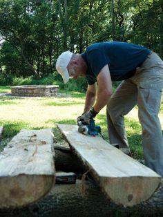 Making Half-Log Benches - Popular Mechanics