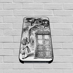 Alice In Wonderland and Cat on Doctor Who Box case of iPhone case,Samsung Galaxy #case #phonecase #hardcase #iPhone6case