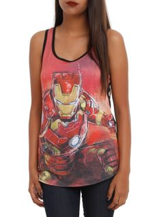 Marvel Avengers: Age Of Ultron Iron Man Girls Tank Top from Hot Topic. Shop more products from Hot Topic on Wanelo. Grease, Iron Man Girl, Marvel Clothes, Avengers Clothes, Nerd Fashion, Tank Girl, Types Of Fashion Styles, Hot Topic, Girls