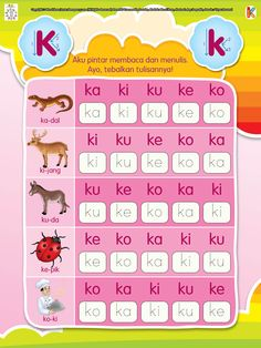 Pintar Membaca dan Menulis Huruf K Printable Preschool Worksheets, Preschool Learning Activities, Worksheets For Kids, Preschool Activities, Kindergarten Reading, Kids Reading, Classroom Rules Poster, Flashcards For Kids, Language Study