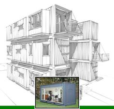 Shipping container home foundations and container house designs. Container House Plans, Container House Design, Shipping Container Homes, Floor Design, Open Floor, Floor Plans, How To Plan, Simple, Mobile Home